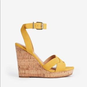 Express Strappy Cork Wedge